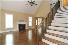Hardwood staircase off the great room. http://www.stantonhomes.com/Willow.aspx