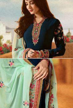 Women S Cheap Fashion Clothing Punjabi Dress, Indian Suits Punjabi, India Fashion, Punk Fashion, Lolita Fashion, Cheap Fashion, Indian Designer Suits, Desi Wear, Embroidery Suits