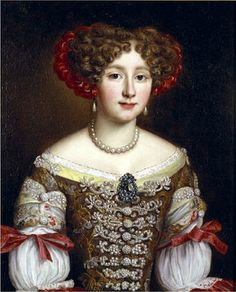 Jacob Ferdinand Voet (1639-1689) — Portrait of Anna Maria Louisa De' Medici (565x700)