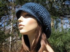Crochet Hat Crochet Slouchy Hat Crochet  Women's by Monarchdancer