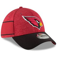 1bb9bfb7d1f6a5 Men's Arizona Cardinals New Era Cardinal/Black 2018 NFL Sideline Home  Official 39THIRTY Flex Hat