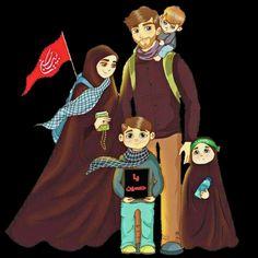 Muslim Family, Muslim Girls, Cute Emoji Wallpaper, Disney Wallpaper, Camping Wallpaper, Hijab Cartoon, Islamic Girl, Muharram, Islamic Wallpaper