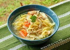 The Kitchen Life of a Navy Wife: Homemade Chicken Noodle Soup (From Scratch!)