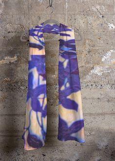 Silk Square Scarf - Lavender fields by VIDA VIDA