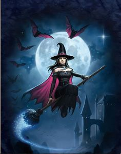 Pretty Witch Lenticular 3D Picture Beautiful Poster Painting Home Wall Art Decor