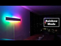 Super Simple RGB WiFi Lamp : Intro:This project started when my girlfriend was complaining about the large empty feature wall of our new apartment. Since we both decided to hang something up there, I knew I wanted to put something of my own design up there. I started research... Mirror With Led Lights, Wall Lights, Bedroom Decor Lights, Cove Lighting, Wood Screws, Super Easy, Wifi, How To Find Out, Empty