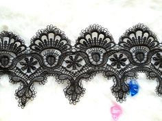 Antique Black Lace Trim Venise Style for Bridal by prettylaceshop, $5.99