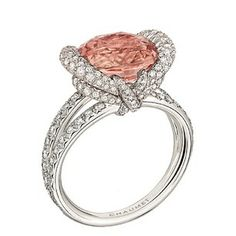 Stunning new #Chaumet Liens rings launched, like this one featuring a 5.29-carat Padparadscha sapphire.