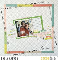 Layout for CD using the April 2017 kit Real Life with Pinkfresh Studio
