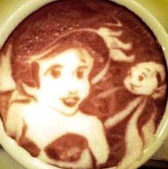.·:*¨¨*:·. Coffee ♥ Art.·:*¨¨*:·. Ariel latte