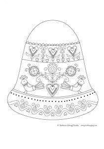Letölthető ötletek | Piros Hungary Creative Crafts, Folk Art, Home Decor, Colouring, Advent, Printable, Christmas, Balls, Homemade Home Decor