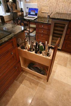 Love this kitchen storage idea