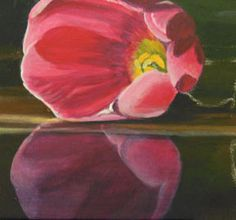 tulip, painting flowers in acrylic, free art demo