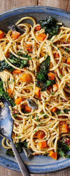 Enjoy this delicious alternate to your standard squash  carbonara. This Winter Squash Carbonara with Broccoli Rabe is bold, flavorful, and colorful.
