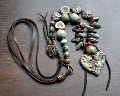 Bohemian necklace Cottage chic Rustic layering by JeSoulStudio