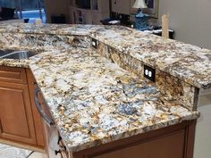 Granite countertops have the potential to truly beautify your home interior, and pieces come in all different colors, shapes and sizes. It is also the most durable of all the options with qualities such as fire resistance, and stain resistance. Granite Remnants, Black Quartz Countertops, Counter Tops, Building Materials, All The Colors, Stones, Change, Flooring, Interior