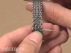 Woven Rings - Beaducation.com,,, (idea: leave long chain at end and attach enameled decorations instead of stone like she does) Lots of good info, simple process..