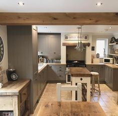 Sunday, my favourite day of the week. Big family roast today and then a lovely forest walk planned for later this afternoon! Barn Kitchen, Rustic Kitchen Cabinets, Refacing Kitchen Cabinets, Open Plan Kitchen, Kitchen Living, Country Kitchen, Kitchen Interior, New Kitchen, Kitchen Decor