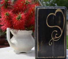 Heart custom wood sign art  small home decor by CSSDesign on Etsy, $10.00