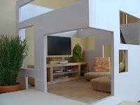 A tiny version of what I'd like my real size home to look like. Mini Modern: June 2010 Dollhouse