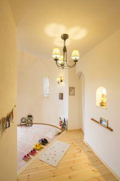 塔の中のかわいい玄関ホール #玄関 #igstylehouse #アイジースタイルハウス