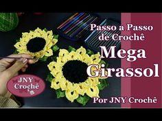 Passo a passo Mega Girassol de crochê por JNY Crochê