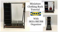 Miniature Clothing Rack with IKEA SKUBB Organizer Tutorial
