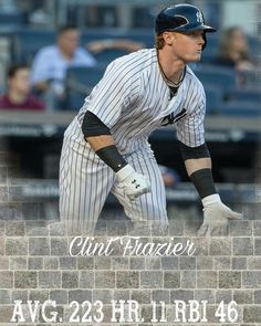 Season Prediction for Clint Frazier these stats are of course assuming he doesn't get much playing time due to Gardners spectacular 2017 season. . . . . . . . . . #yankees #bronxbombers #stanton #aaronjudge #redsoxsucks #chasefor28 #blashoff #aleast #bluejays #MLB #orioles #opeingday #boonesbunchofmisfits #giants #pirates #MLBtrade #hotstove #offseason #bullpen #bigarms #baseball #homer #out #palmtrees