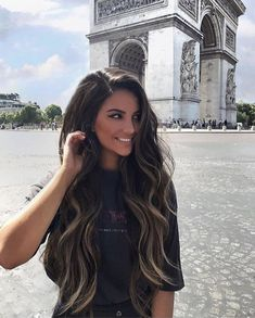 New Hair Goals Brunette Outfit Ideas Long Face Hairstyles, Chic Hairstyles, Bayalage, Balayage Hair, Ombré Hair, Hair Day, Hair Extensions Before And After, Balayage Before And After, Super Hair