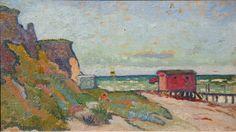 Cesar Klein Ahrenshoop IV (Badehaus am Strand), 1909 Öl auf Malpappe Privatbesitz © VG Bild Kunst, Bonn 2011