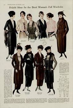 1919 FASHION PG AD / IDEAS FOR WOMAN'S FALL WORDROBE... | eBay