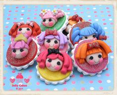 Lalaloopsy party favor set by jelly cakes, via Flickr