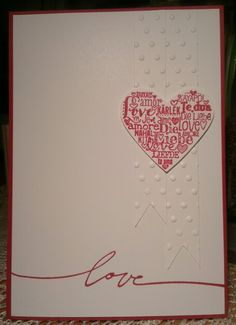 Stampin up wedding invitation
