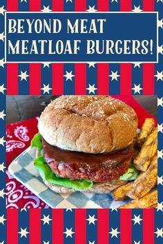 Create A Recipe, Recipe Using, Vegan Burgers, Salmon Burgers, Vegan Gluten Free, Gluten Free Recipes, Meatloaf Burgers, Beyond Meat Burger, Plant Based Burgers