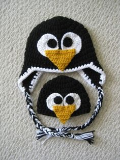 crochet penguin hat by Kharis