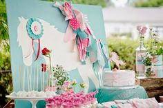 What a gorgeous Party!!! Im so excited to feature this beautiful Pony \Equestrian themed party,Styled by Pixie Perfect - Childrens P...