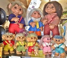 TROLL DOLLS !!! ... They're honorary Americana ... Born in Denmark in 1959 ... First imported to USA in 1963 !!!
