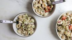 "This super light and refreshing greek pasta salad (my favorite category of ""salad"") has all the right summer flavors. More at PBS Food. Pbs Cooking Shows, Pbs Food, Greek Salad Pasta, Cold Pasta, Salad Wraps, Bastilla, Pasta Salad Recipes, Pasta Dishes, Food To Make"