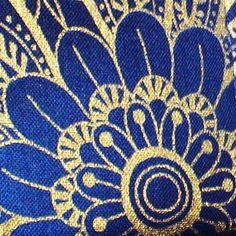 Gold and Cobalt Blue Handmade Guitar Strap Ancient Egyptian Motif ...