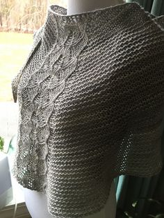 Skimming stones by Susan Ashcroft, knitted by Knapknits   malabrigo Silky Merino in Cape Cod Gray