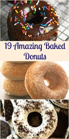 19 Amazing Baked Donuts That Are Waaay Better Than Fried! - 19 Amazing Baked Donuts That Are Waaay Better Than Fried! 19 Amazing Baked Donuts That Are Waaay Be - Easy Donut Recipe, Baked Donut Recipes, Baked Doughnuts, Fried Donuts, Easy Cake Donut Recipe Baked, Best Mini Donut Recipe, Recipe For Donuts, Baked Old Fashioned Donut Recipe, Healthy Baked Donuts