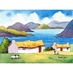 Watercolour Print Connemara Cottage's Ireland 14ins x 11ins Listing in the Prints,Self-Representing Artists,Art Category on eBid United Kingdom | 152418247