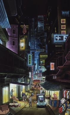 "Vertical panorama from Cowboy Bebop episode 18 ""Speak Like a Child""."