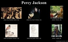 Percy Jackson hahahaha ironically I just watched this with my niece<<READ THE BOOKS! Percy Jackson Fandom, Percy Jackson Memes, Percy Jackson Books, Percy And Annabeth, Annabeth Chase, Solangelo, Percabeth, Trials Of Apollo, Rick Riordan Books