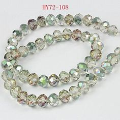 HYBEADS 150pcs 4mm Wholesale Crystal Rondelles Beads