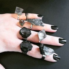 jewelry ring crystal Witch darkness goth gothic crystals rings wiccan wicca black nail polish nu goth dark fashion gothic fashion dark blog gothic jewelry dark beauty gothic style gothic beauty dark style gothic blog witch stuff crystal rings