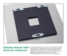 Mounting for Metal Prints: Security Hardware