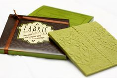 White chocolate with japanese green tea and ginger by Fabric
