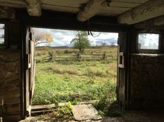 October 2015 - airing out the barn
