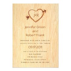 See MoreWoodgrain with Heart Wedding Invitationtoday price drop and special promotion. Get The best buy